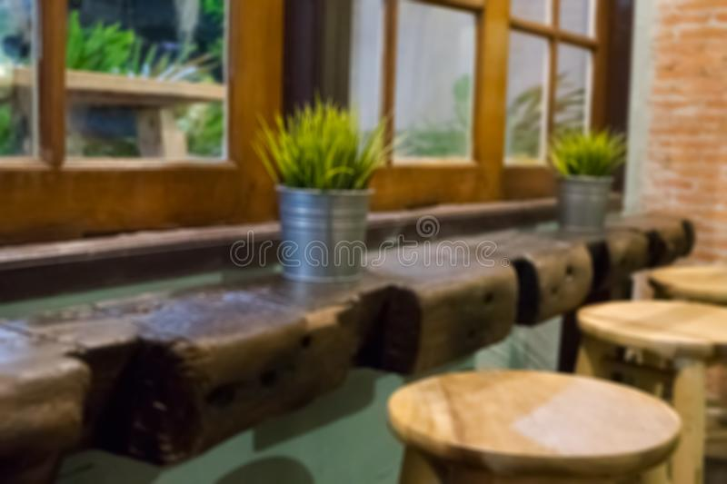 Blurred Decoration for the living room at night. royalty free stock image