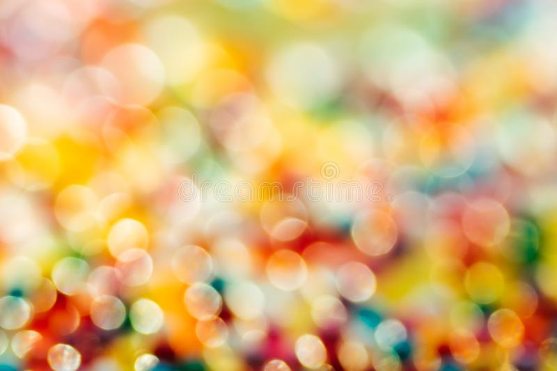 Blurred Defocused Multi Color Lights. Blurred in defocus multi color christmas lights. Happy new year wallpaper decorations concept.xmas holiday festival royalty free stock photography