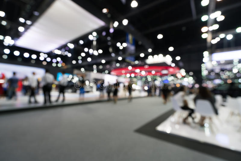 Download Blurred, Defocused Background Of Public Event Exhibition Hall, Business Trade Show Concept Stock Image - Image of display, light: 83448301
