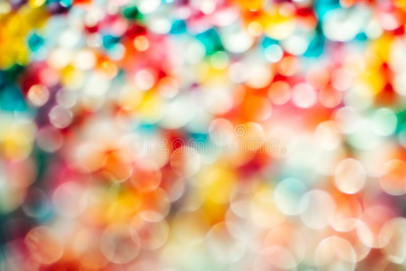 Blurred Defocused Multi Color Lights royalty free stock photography