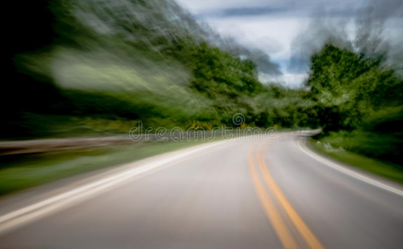 Blurred and double vision while driving royalty free stock images