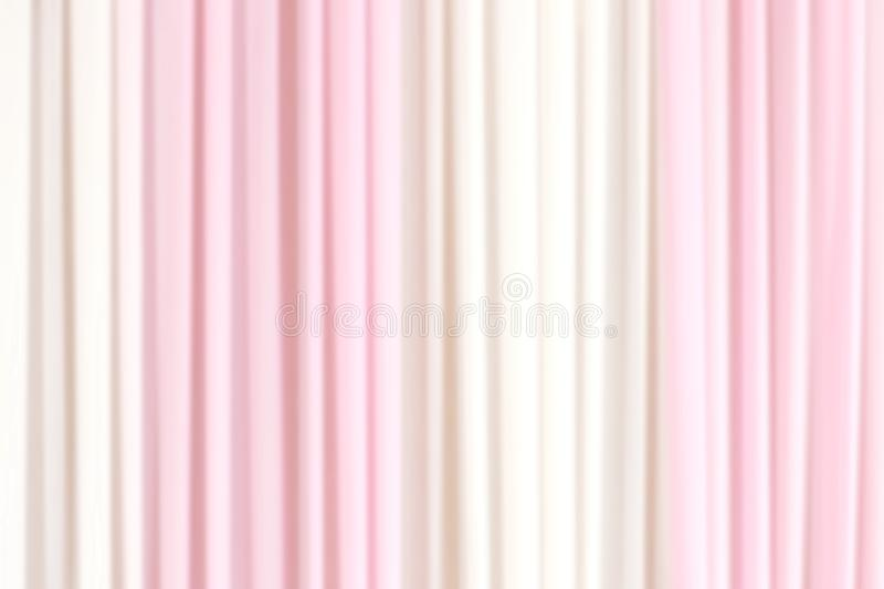 Blurred fabric pink white soft background, curtain backdrop blurred fabric pink white for wedding wall. The blurred fabric pink white soft background, curtain royalty free stock images