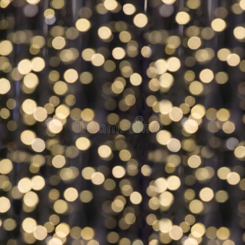 Blurred garland. City light blur bokeh, defocused background. Christmas abstract. stock photo