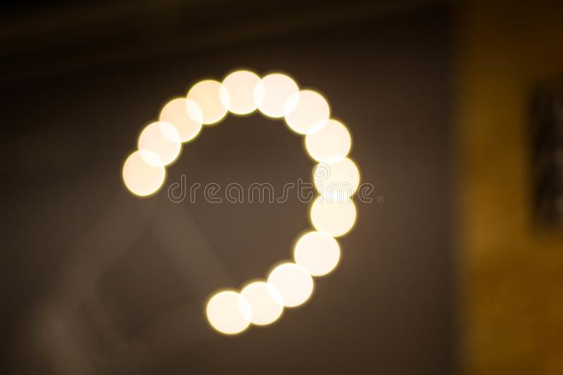Blurred garland. City night light blur bokeh, defocused background. Christmas abstract pattern royalty free stock photo