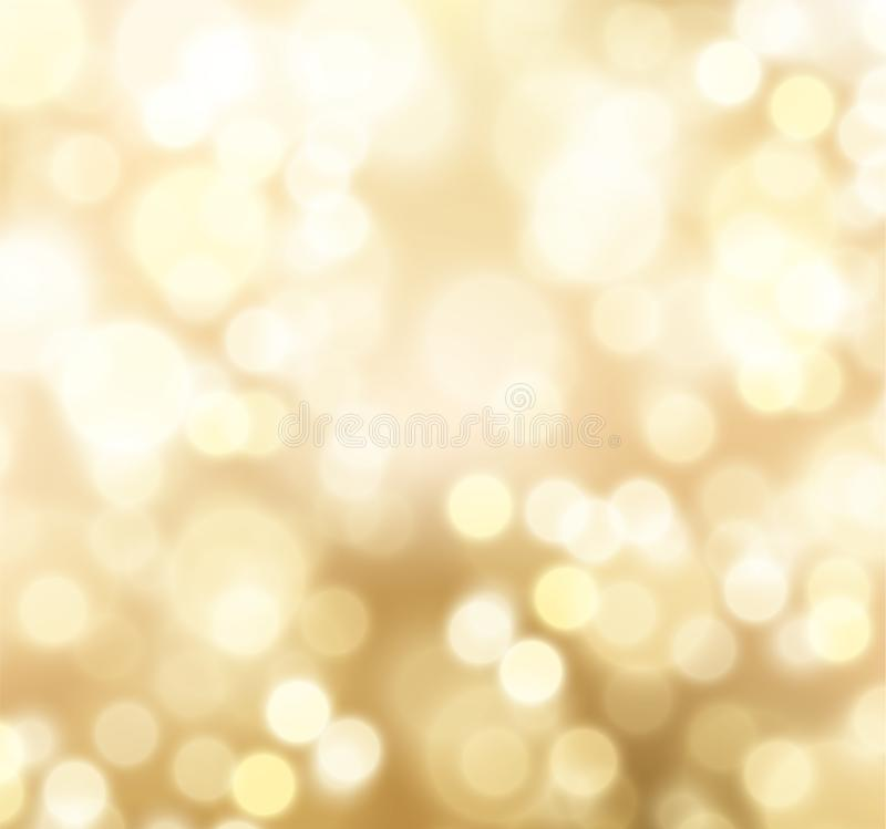 Blurred light bokeh holiday background. Vector eps10. royalty free illustration
