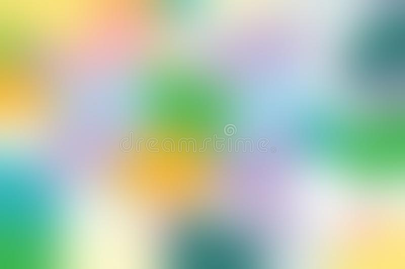 Blurred gradient hue colorful pastel soft background illustration for cosmetics banner advertising background. The blurred gradient hue colorful pastel soft royalty free illustration