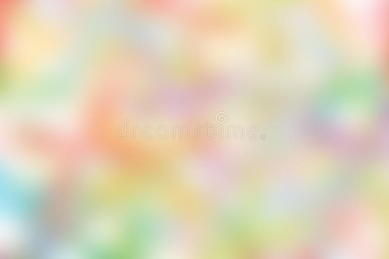 Blurred gradient hue colorful pastel soft background illustration for cosmetics banner advertising background. The blurred gradient hue colorful pastel soft stock illustration