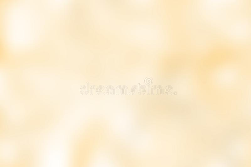 Blurred gradient yellow gold hue colorful pastel soft background illustration for cosmetics banner advertising background. The blurred gradient yellow hue stock illustration