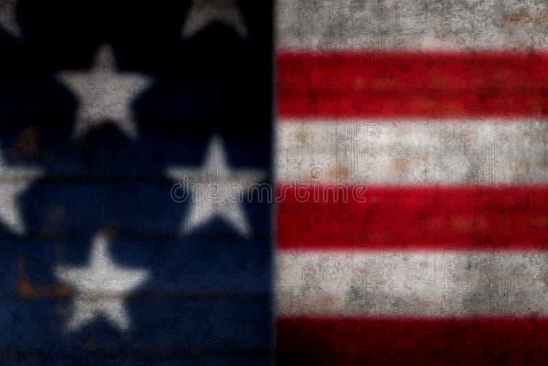 Blurred, Grundgy American flag background stock photo