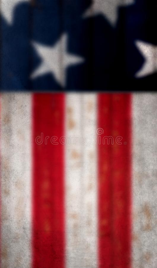 Blurred, Grundgy American flag background stock photo