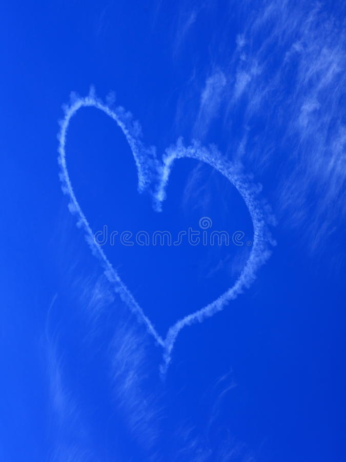 Download Heart Blur In Rich Blue Sky Stock Image - Image: 33295831