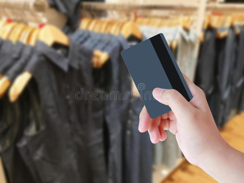 Blurred image background with clothing store royalty free stock images