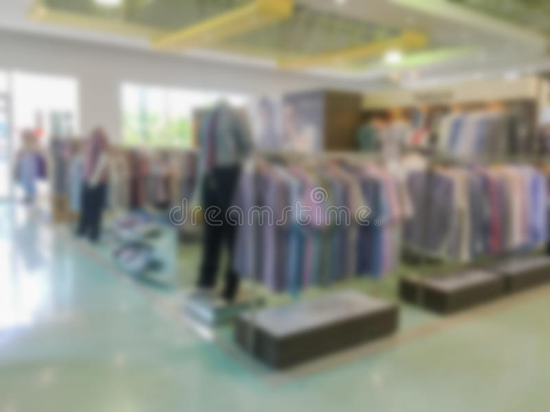 Blurred image of a clothing store royalty free stock images