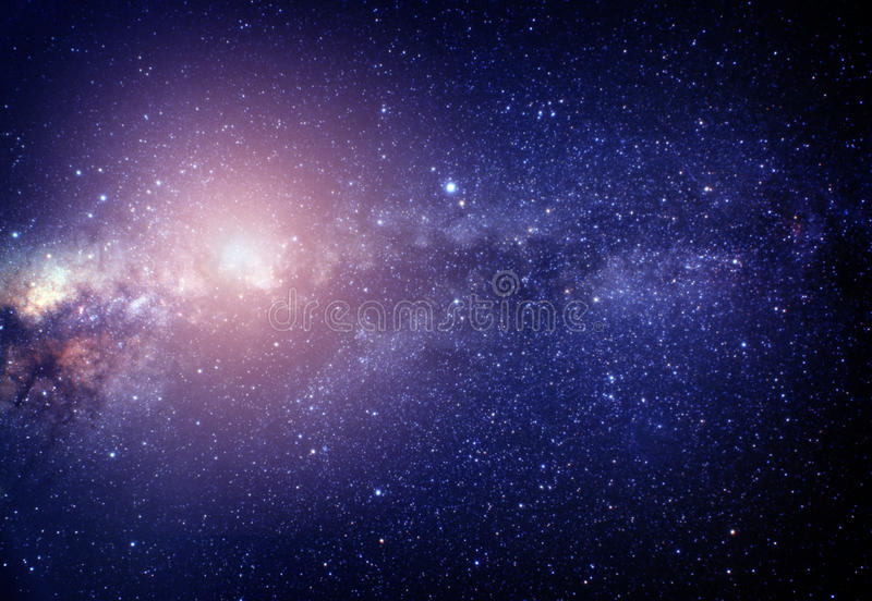 Blurred image of pink stars in the galaxy vector illustration