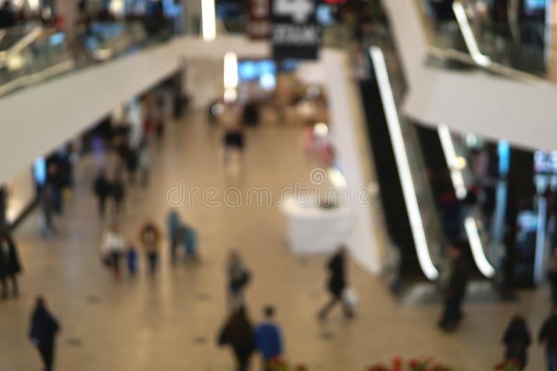 Blurred image of shopping mall. stock photos