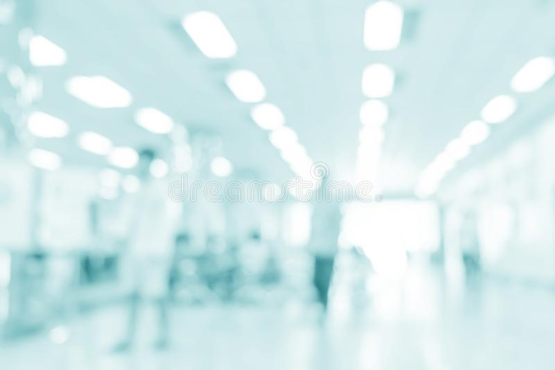 Abstract medical background. Blurred interior of hospital - abstract medical background royalty free stock photo