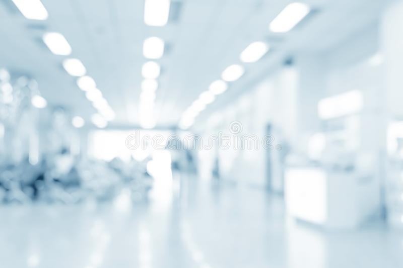Blurred interior of hospital. Abstract medical background royalty free stock images