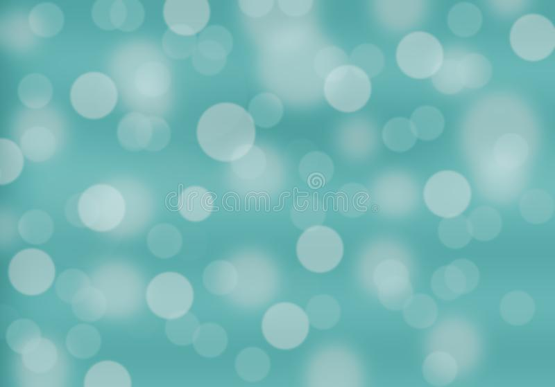 Blurred light blue turquoise hue background with blur round bokeh. circle. Soft light tones n vector illustration