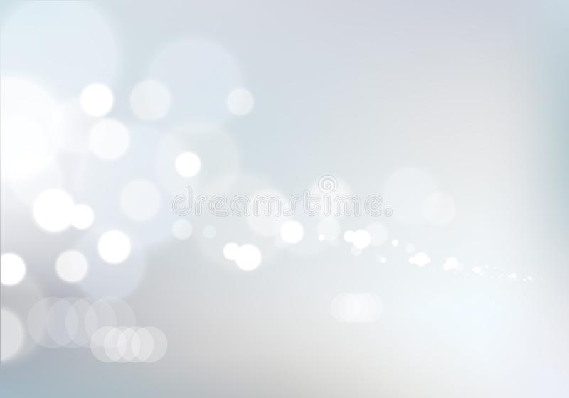 Blurred lights background. Bokeh effect texture. Beautiful vector abstract illustration. Holidays magic festive shiny theme. stock illustration
