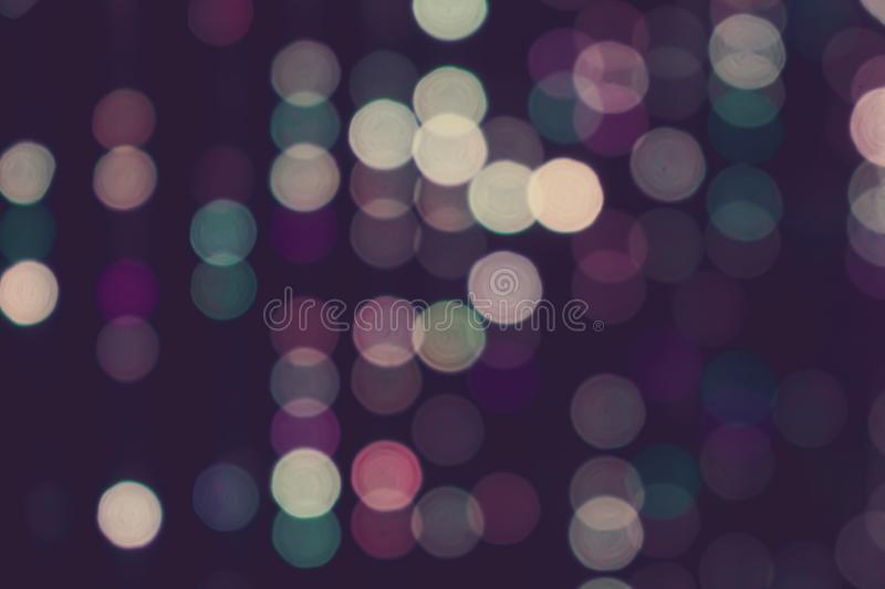 Blurred lights with bokeh effect vintage retro tone background, Abstract vintage retro blur bokeh texture background. Art, backdrop, beautiful, black, blue royalty free stock images