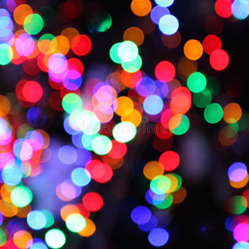 Blurred lights of christmas tree stock photos