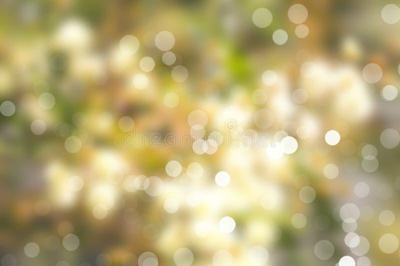 Blurred lights and defocused light dots stock image