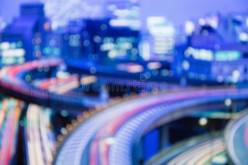 Blurred lights of night Tokyo. Abstract photo royalty free stock photos