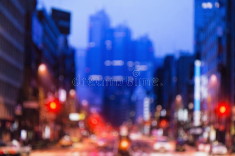 Blurred lights of night Tokyo. Abstract photo stock photo