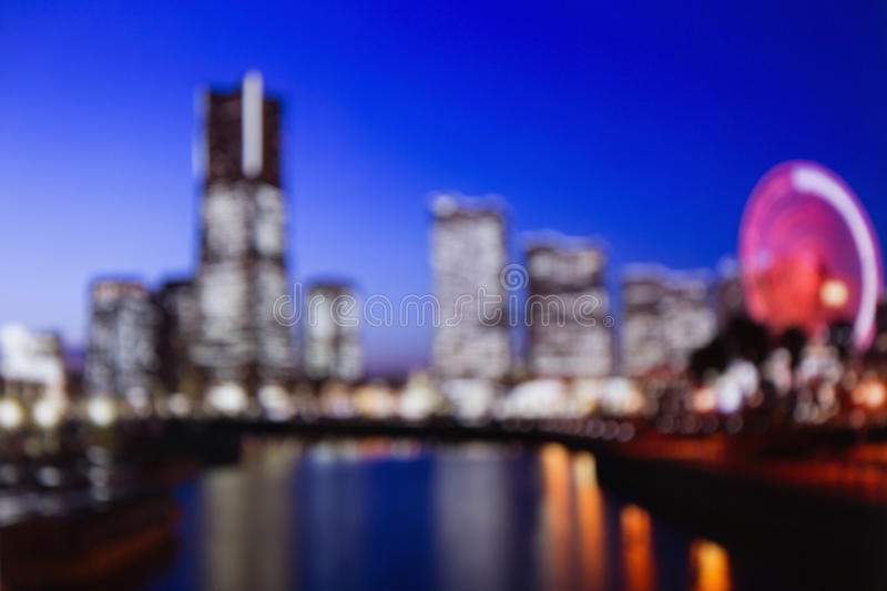 Blurred lights of night Tokyo. Abstract photo royalty free stock photography