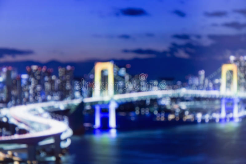 Blurred lights of night Tokyo. Abstract photo royalty free stock images
