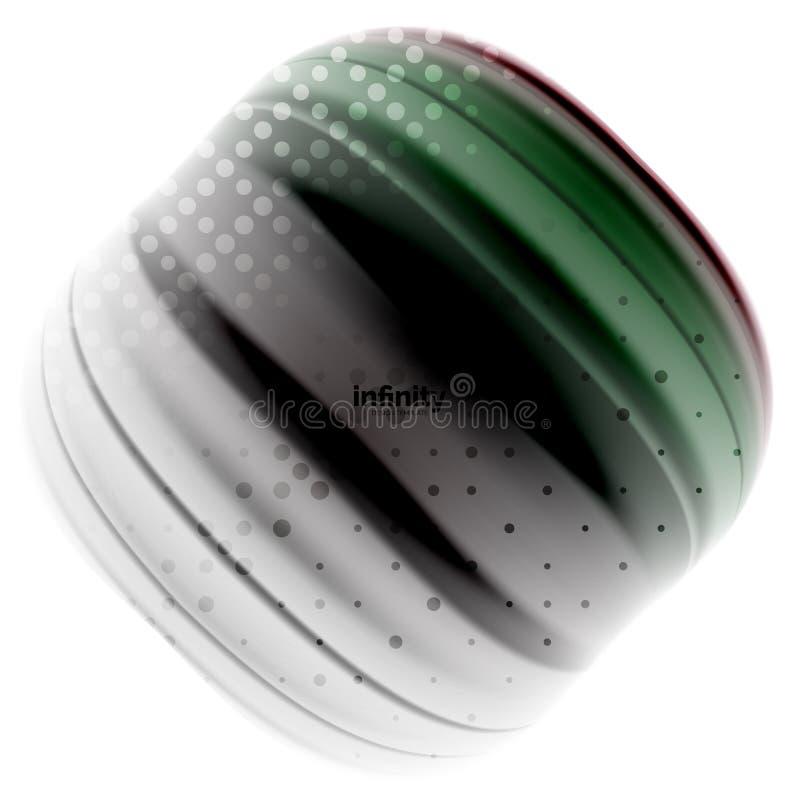 Blurred mischende flüssige Farben Flüssigkeit, abstrakter Hintergrund, Webdesignschablone für Darstellung, APP-Tapete, Fahne stock abbildung