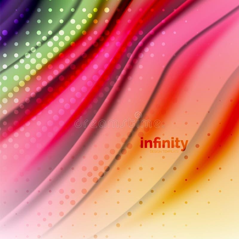 Blurred mischende flüssige Farben Flüssigkeit, abstrakter Hintergrund, Webdesignschablone für Darstellung, APP-Tapete, Fahne lizenzfreie abbildung