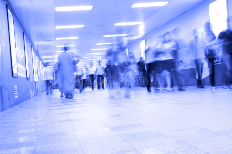 Download Blurred motion stock photo. Image of commuters, blue, china - 6093232