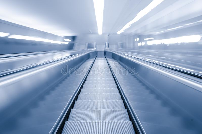 Download Blurred Motion Escalator stock image. Image of high, angle - 14337587