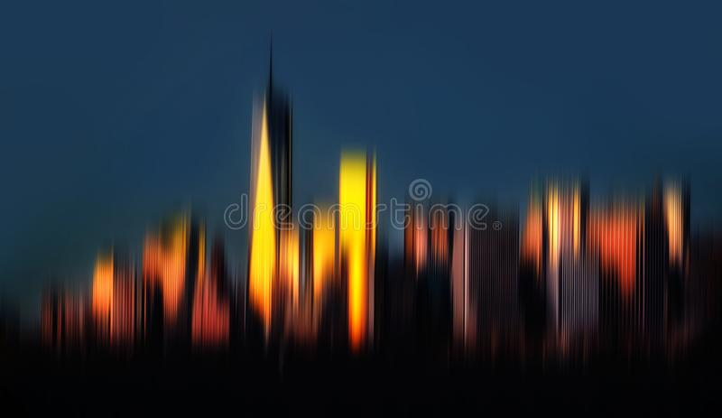 View of Manhattan skyline in NYC stock image