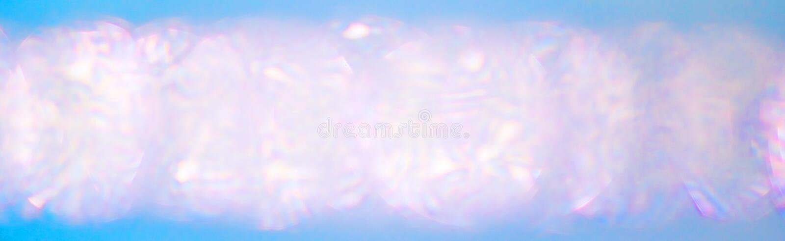 Blurred pearls. Abstract iridescent color bokeh background.  stock photo