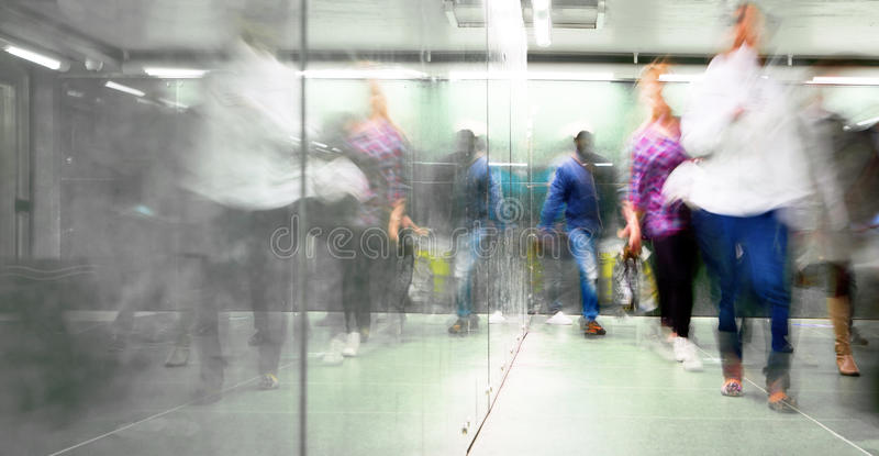 Blurred people stock photos