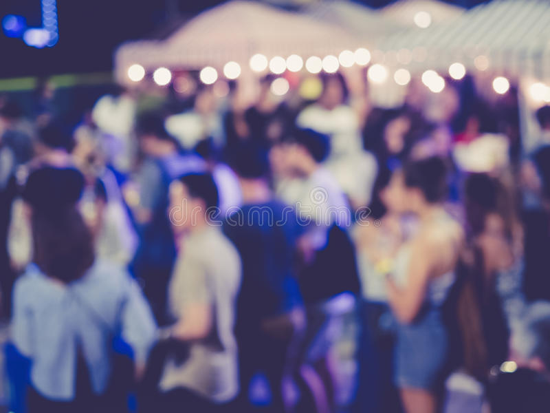 Blurred People Festival Event Party outdoor. Background stock photo