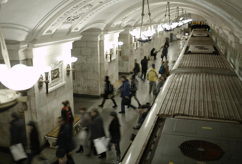 Download Blurred People On Subway Platform. Stock Image - Image: 32114695