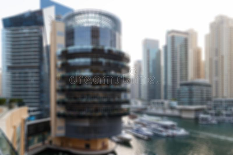Blurred Photo, cityscape at twilight time. Big city downtown building, abstract background. Blurred image background abstract urban background royalty free stock images