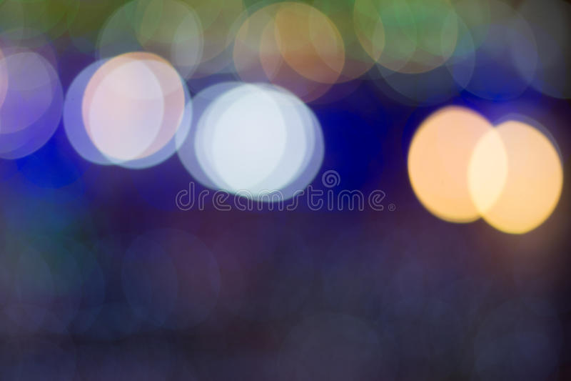 Blurred picture of colorful big round bokeh. stock images