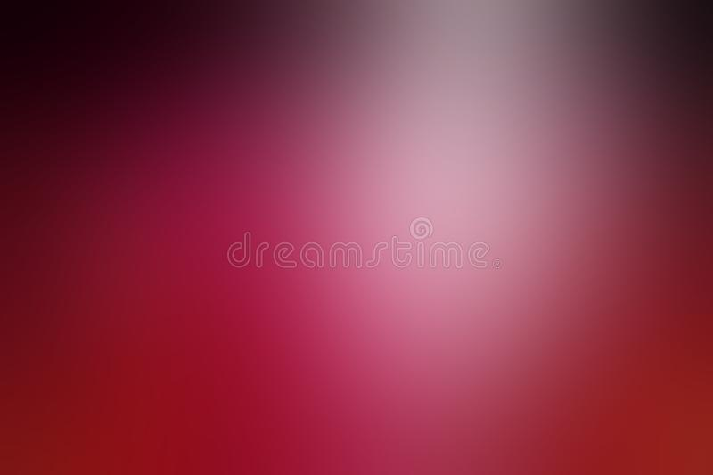 Blurred pink and black background with smooth texture. Beautiful dark rose pink background with gradient blur black border on top and cloudy white spotlight vector illustration