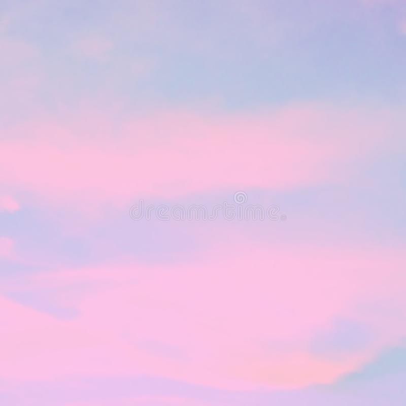 Download Blurred Pink And Blue Sky Wallpaper Stock Image