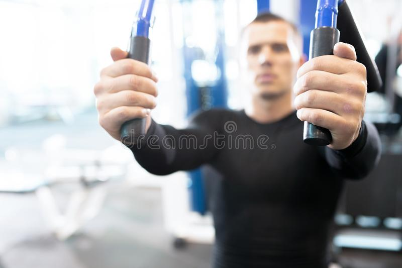 Blurred Portrait of Man in Gym royalty free stock image