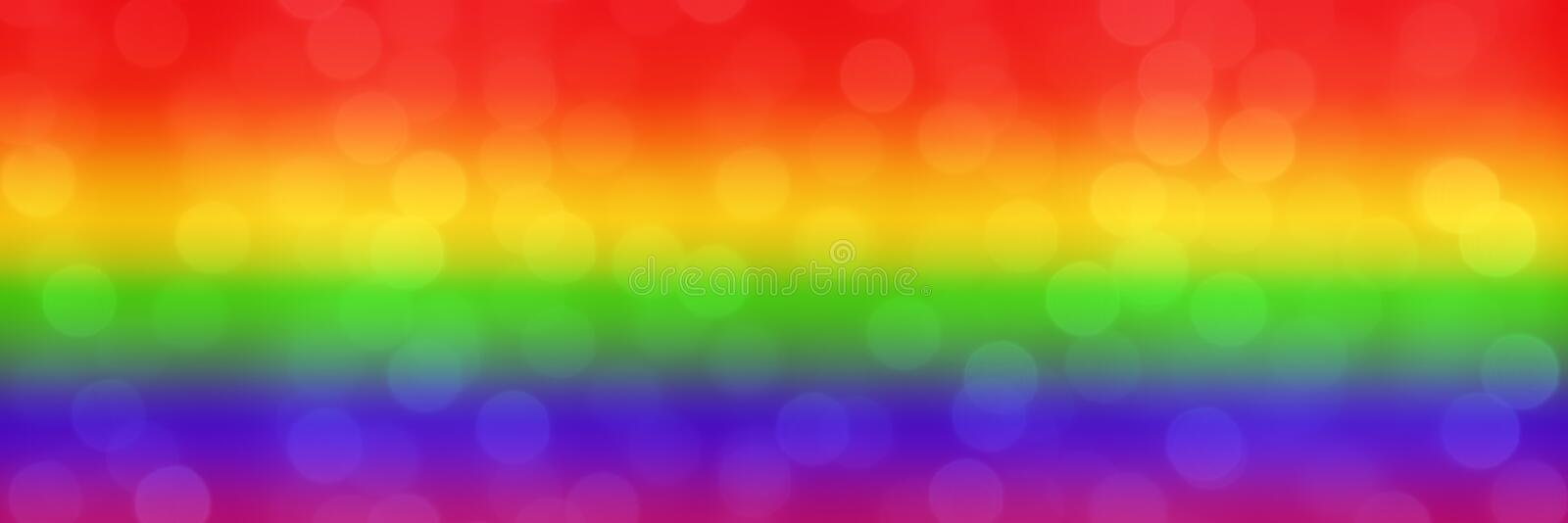 Blurred rainbow background with natural bokeh light balls. abstract gradient web wallpaper. LGBT movement concept. - Image royalty free stock photos