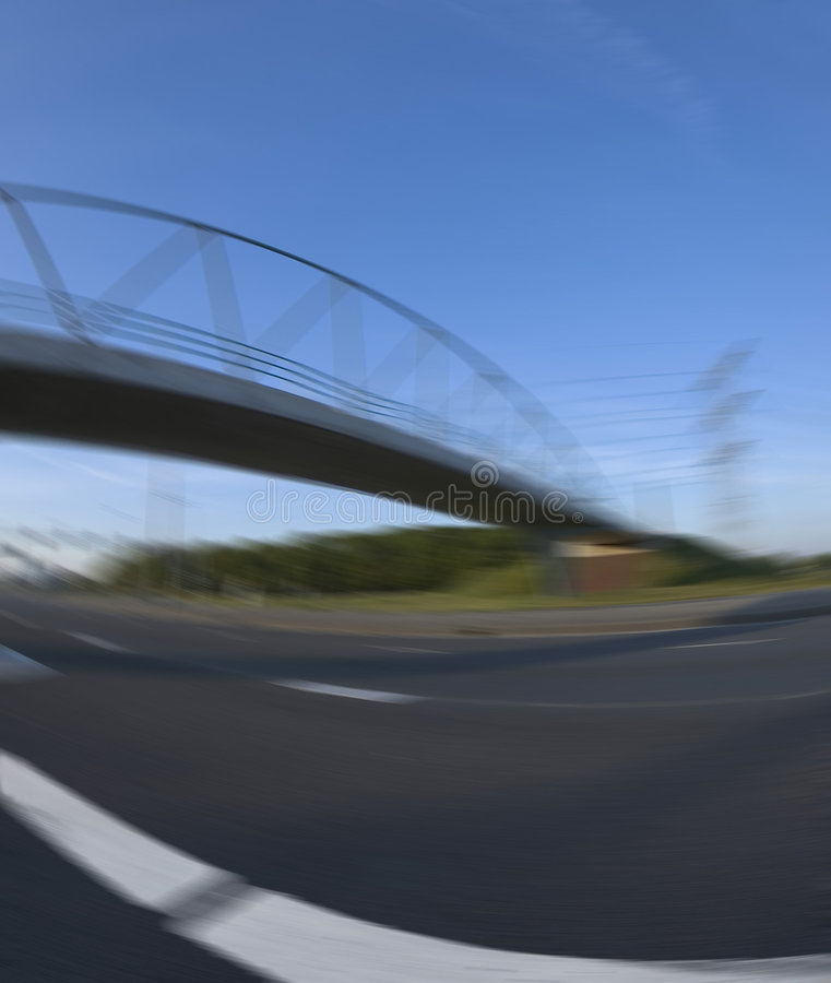 Download Blurred road stock image. Image of evening, bridge, motion - 151391