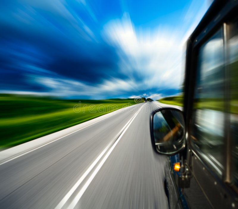 Blurred road stock photos