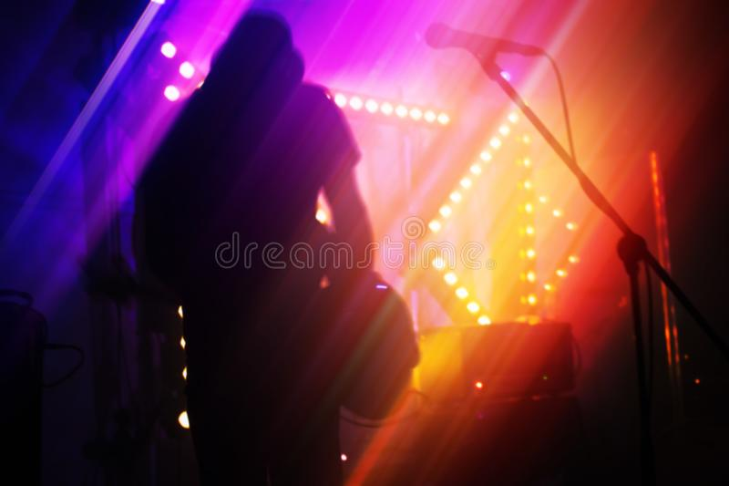Blurred rock music abstract background stock image