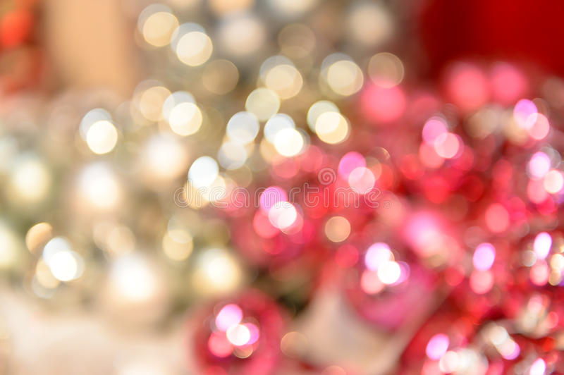 Blurred shiny silver and pink Christmas background stock images
