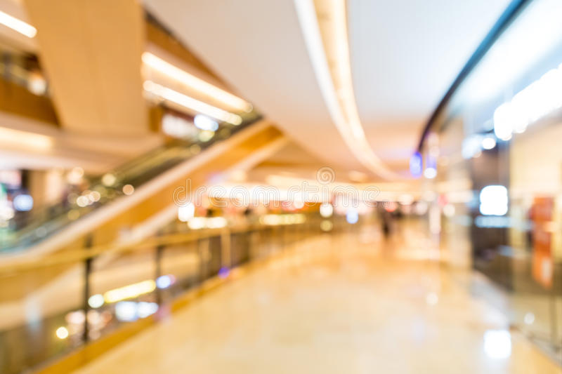 Blurred shopping mall royalty free stock photo
